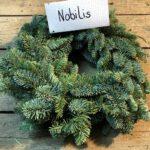 Adventskranz aus Nobilis-Tanne in verschiedenen Größen und Durchmessern
